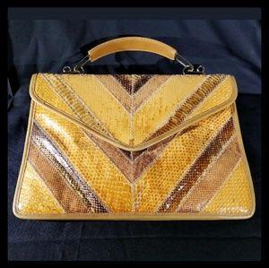 Vintage Snakeskin Clutch Bag